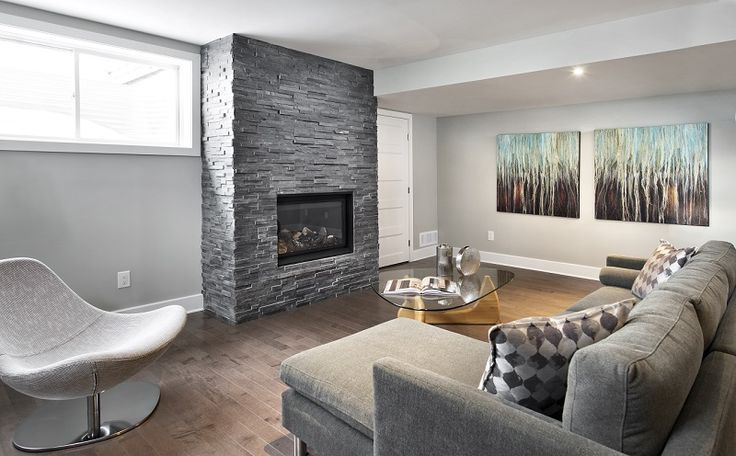 This is the included finished basement in our Quartz townhome model in Barrhaven at our Havencrest community.