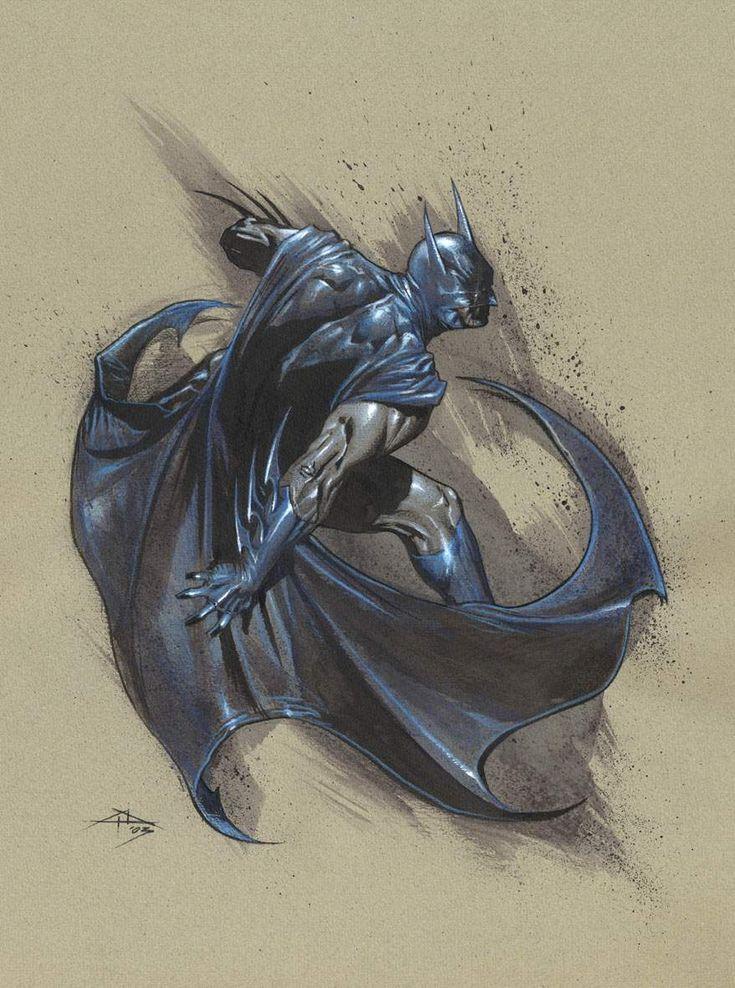 Batman under attack by Gabrielle Dell'Otto