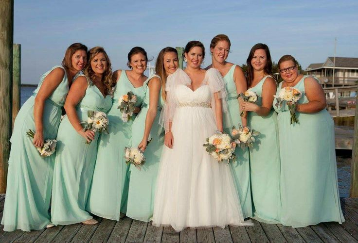 Mint bridesmaid dresses for all types!