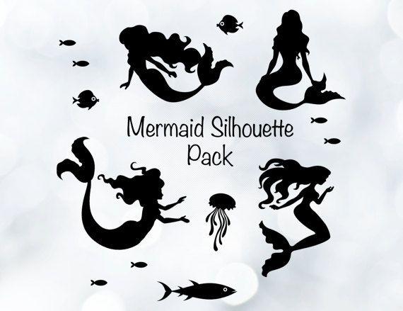 Mermaid Silhouette Clipart