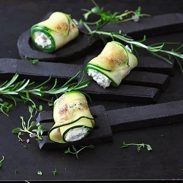 Raclette - Zucchiniröllchen mit Ziegenkäse