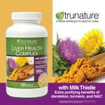 trunature® Liver Health Complex 1000mg with Milk Thistle, 180 Tablets