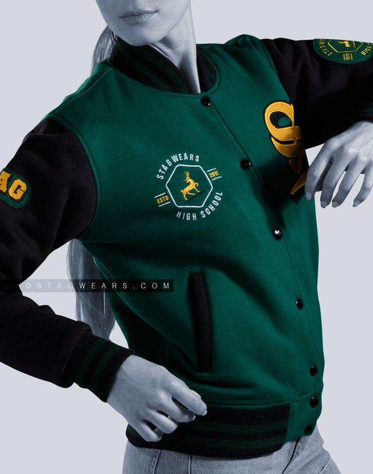 Varsity Letterman Jackets Cotton Fleece #fleece #Varsityjacket