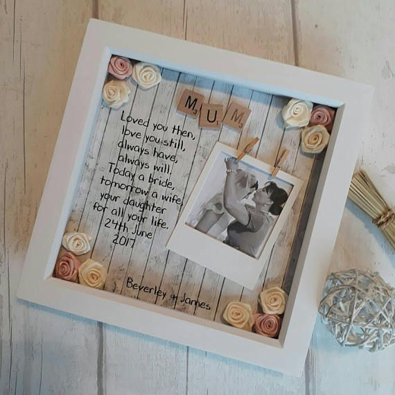 Father Of The Bride Gift, Mother Of The Bride, Mother Of the Groom Gift, Father Of The Groom Frame, Wedding Gift For Dad, Bridal Gift Mum