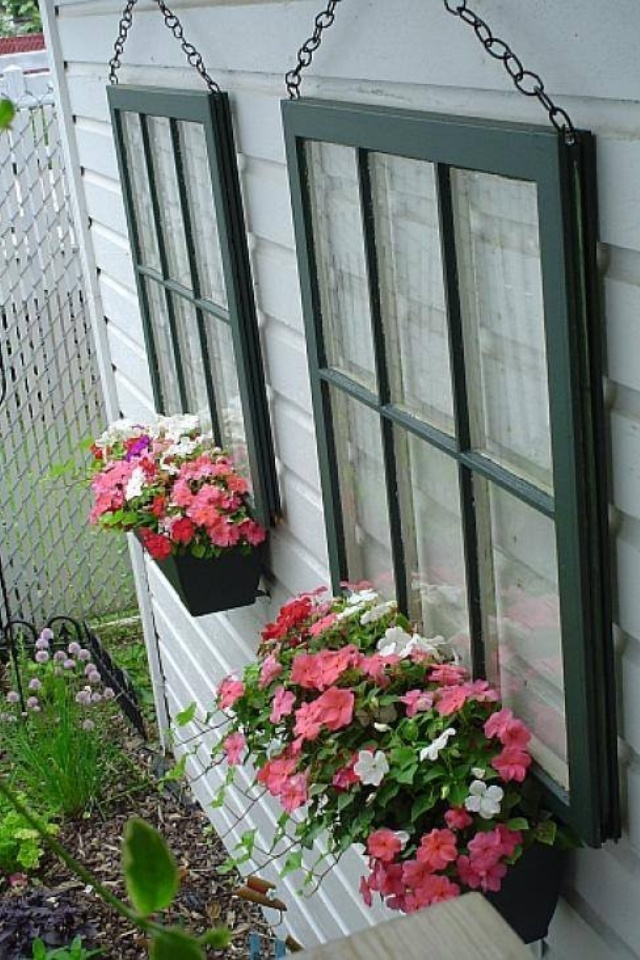 Faux window boxes