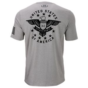 Under Armour Freedom Eagle T-Shirt for Men - True Gray Heather - 2XL