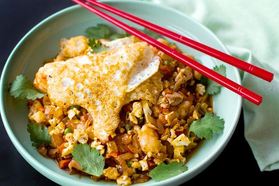 Paleo Nasi Goreng - Indonesian fried rice. #paleo #friedrice | Eat Drink Paleo