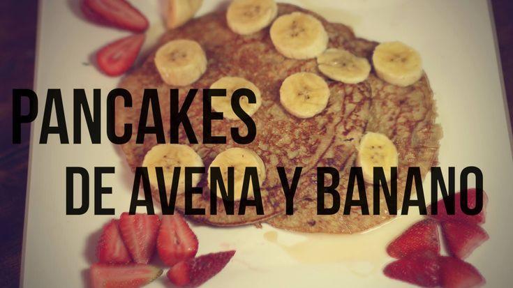 Pancakes de avena y banano #RECETAS