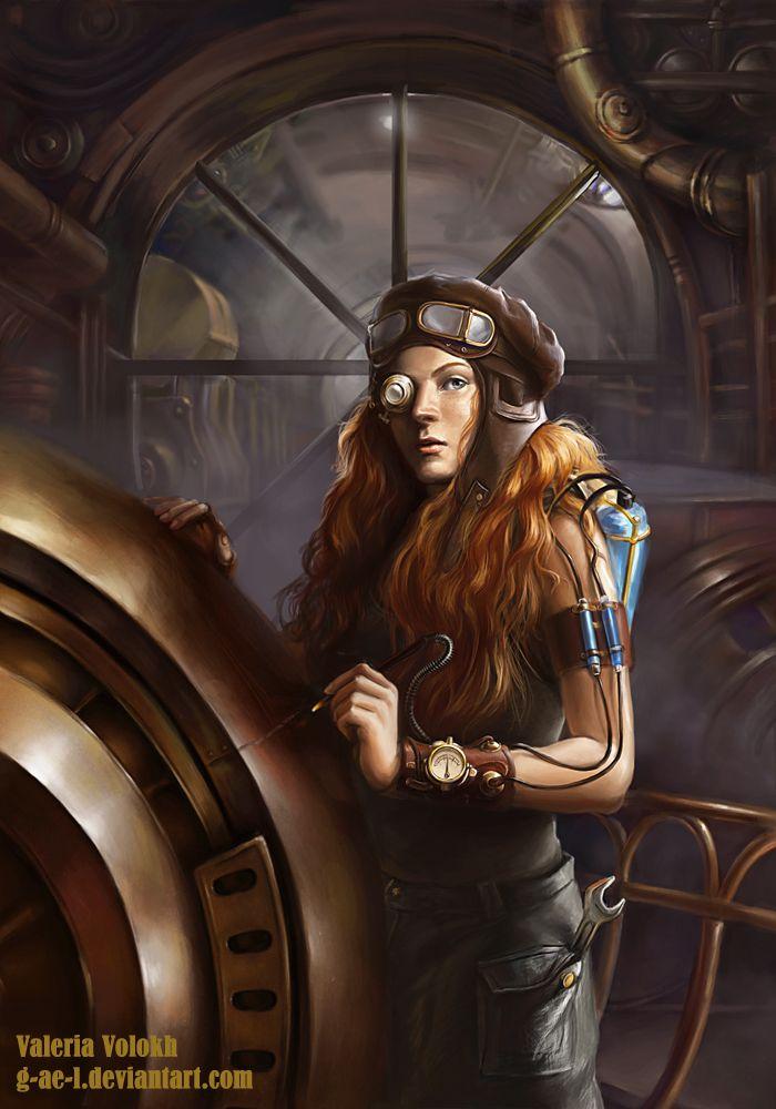 steampunk mechanic by g-ae-l.deviantart.com on @DeviantArt. #steampunk #victorian #Art #gosstudio  . (Best Gifts online: http://www.zazzle.com/vintagestylestudio)