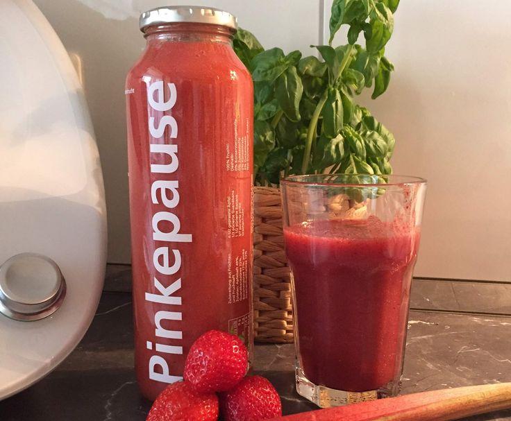 Erdbeer-Rhabarber-Smoothie