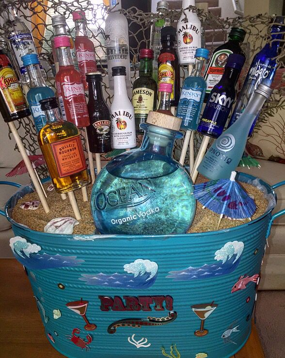 21st Birthday Gift Basket Alcohol : The best ideas about st birthday bouquet on