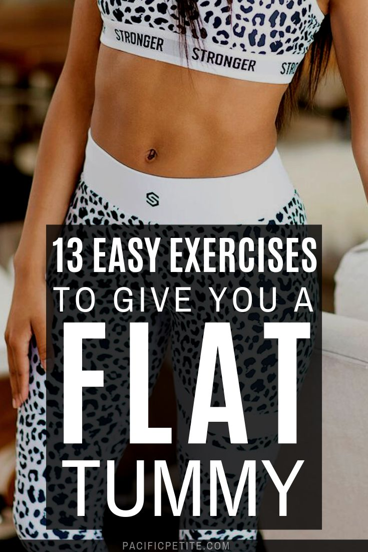 13 Flat stomach exercises for a flat stomach. Reach your workout goals by building tone abs #abs