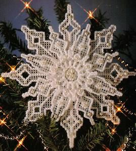 free plastic canvas snowflake patterns - Reminds me of the ones my grandma made and had on her tree.