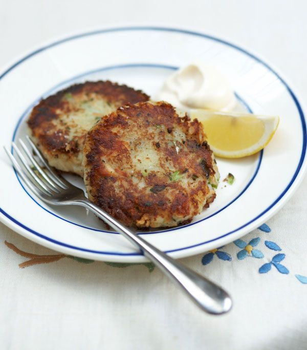 Salmon Cakes With Lemon, Dill, And Homemade Dijon Mayonnaise Recipes ...