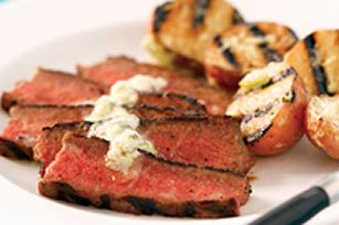Brave the Cold! BBQ!    Chicago-Style Steak with Blue Cheese Butter