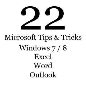 Year-End Wrap Up: Outlook, Windows 7 and 8, Word, and