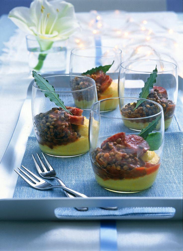 Polenta con lenticchie e cotechino