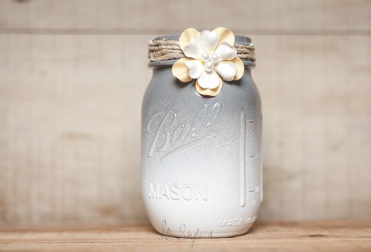 Ombre Mason Jar DIY | Gray mason jars. Not everything needs bold patterns!