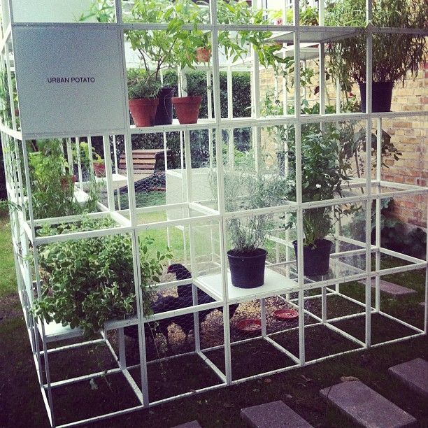 #verticalgarden at the #opengardencph   made of the Montana GRID: http://www.gridsystem.dk/
