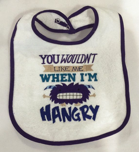 Hangry bib baby bib for boy or girl by YouHungTheMoon on Etsy