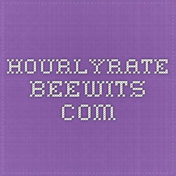 hourlyrate.beewits.com - hourly rate calculator for freelancers!