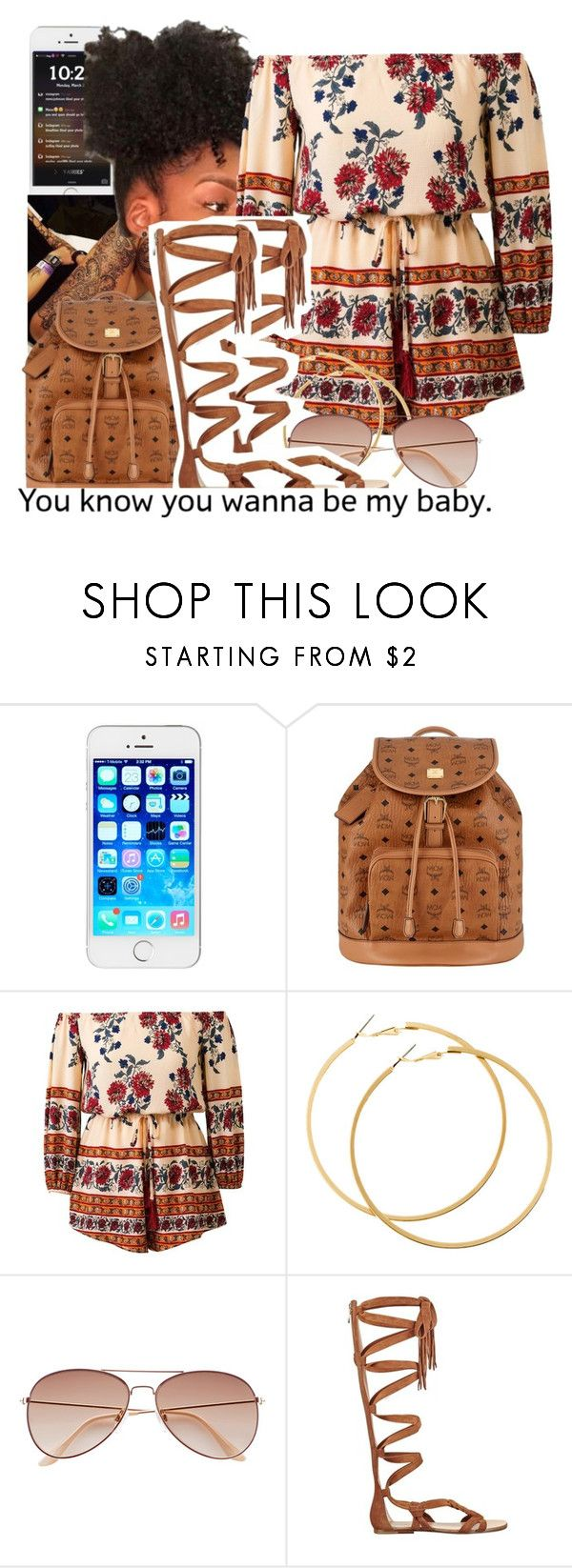 """""""untitled #155"""" by yani122 ❤ liked on Polyvore featuring MCM, H&M and Sigerson Morrison"""