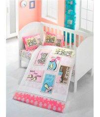 Σετ Παπλωματοθήκη Bebe 100x150 cm Σχέδιο Baby Girl
