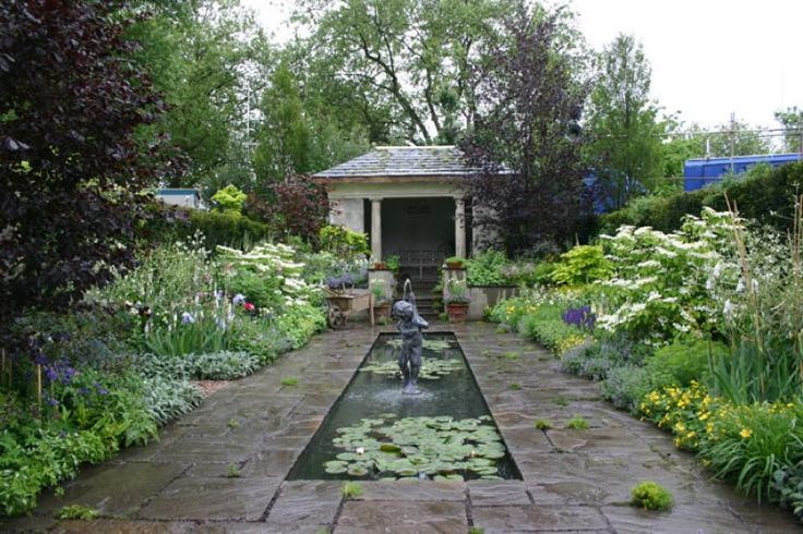 English Garden Designs | Garden Swimming Pool | Pinterest