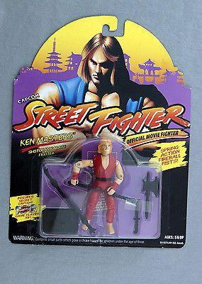 Vintage 1993 Hasbro Capcom Street Fighter Ken Masters Action Figure