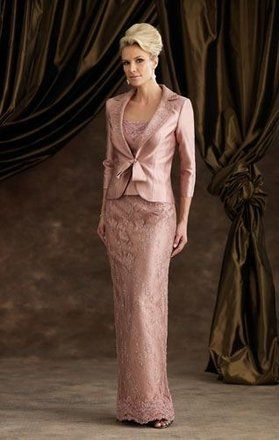<p>This is a brand new Mon Cheri Montage Mother of the Bride Gown in Rose Frost (color shown). It retails for $700, plus is sold out in this size through the manufacturer. This dress can easily be altered to a smaller size.</p> Seller's Height With Heels: Hips: Bust: Waist: Preservation Message: