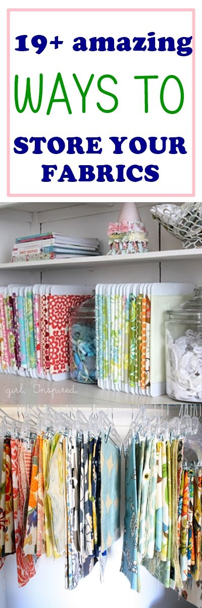 fabric storage ideas | home decor | craft room organization | fabric organization | diy storage | free sewing patterns