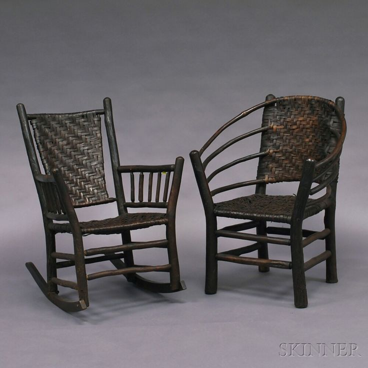 two old hickory chair co chairs sale number 2660m lot number 679 - Old Hickory Furniture