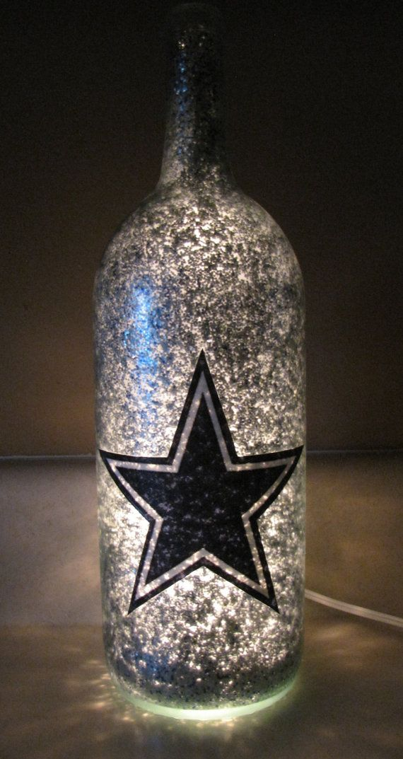 Football Team Decorative Lighted Wine Bottle by UniqueWineBottles, $20.00