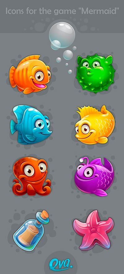"Icons for games ""Mermaid"" on Behance"