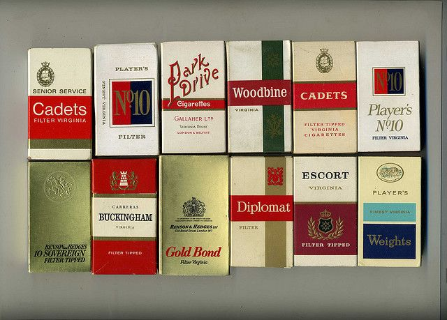 The Virtual Tobacconist - UK Cigarette brands. Cheap,short fags. Packets of 10, 1960s by sludgegulper, via Flickr