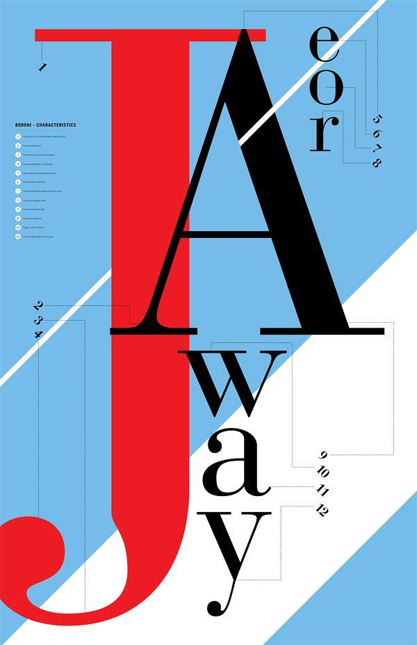Bodoni Posters  by Caleb Newberg, via Behance