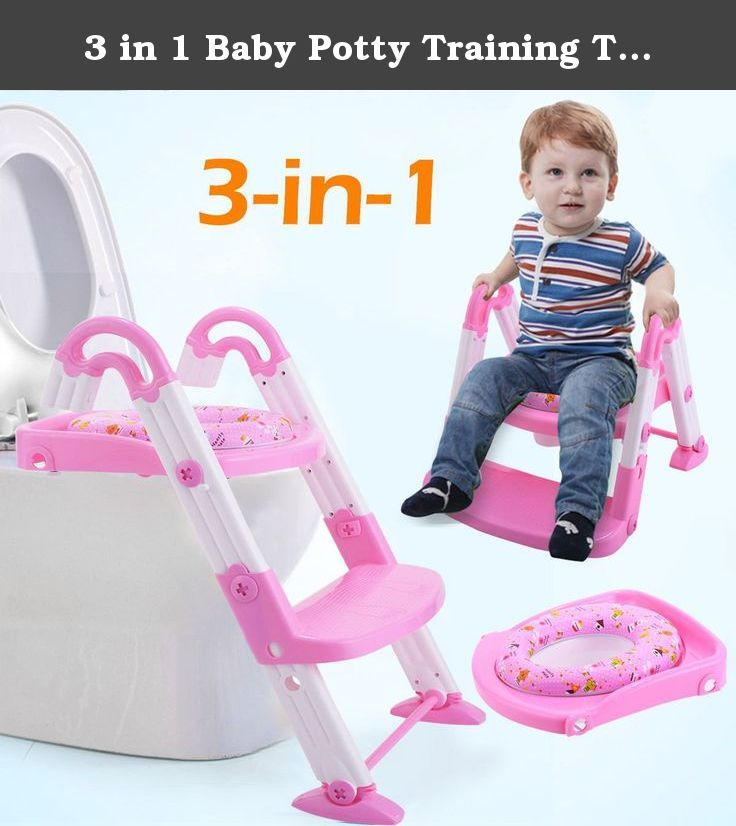 3 in 1 Baby Potty Training Toilet Chair Seat Step Ladder Trainer Toddler Pink. Potty training your kids will never be a burden again with our 3 in 1 portable potty seat for toddlers. Introducing a unique design that is guaranteed to give your kid the best toilet seat training experience. Our potty training seat includes a portable potty, toilet trainer with a mini ladder and a toilet seat reducer. Three possible uses: 1. a standalone potty training seat that your kid can independently…