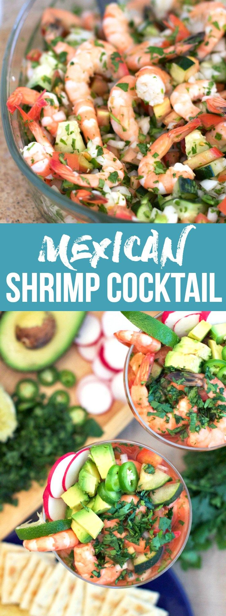 Mexican Shrimp Cocktail — This Mexican Shrimp Cocktail is a perfect summer (or winter) treat packed with juicy shrimps, avocado, and an undeniably tasty broth | bitsofumami.com