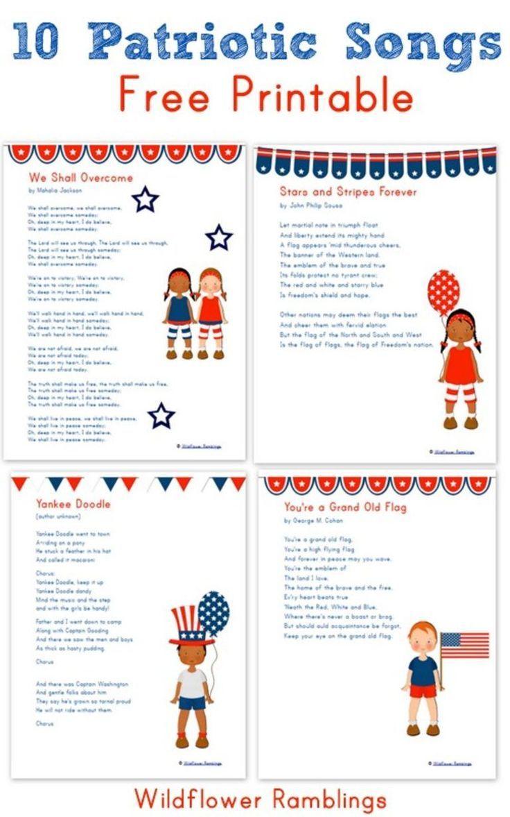 40 best veterans day ideas images on pinterest veterans day 10 patriotic songs for children free printable veterans day biocorpaavc