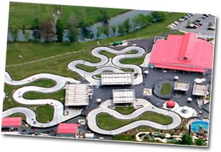 Nascar Speed park. Great prices, fun track and they have a big indoor arcade.     Pigeon Forge Tennessee