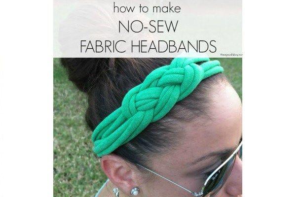 Tutorial: No-naai Keltische knoop hoofdband uit een gerecycled t-shirt