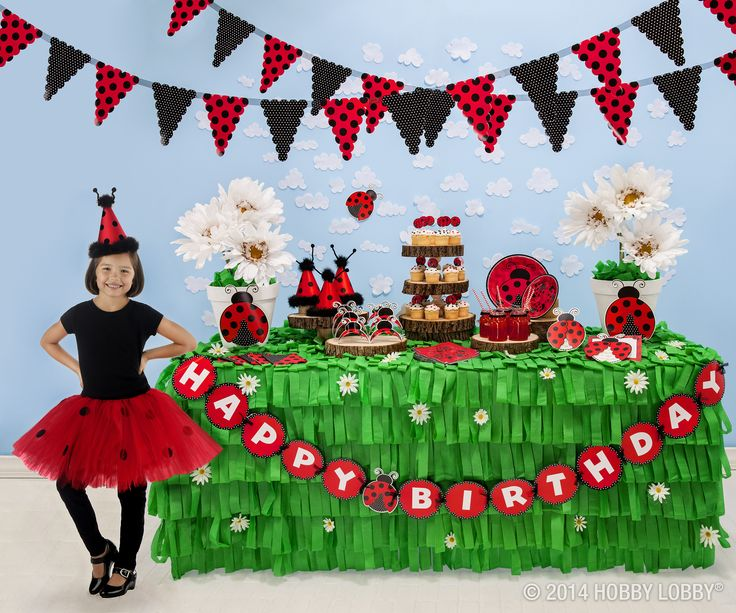 The ladybugs are on parade with this adorable children's birthday theme!
