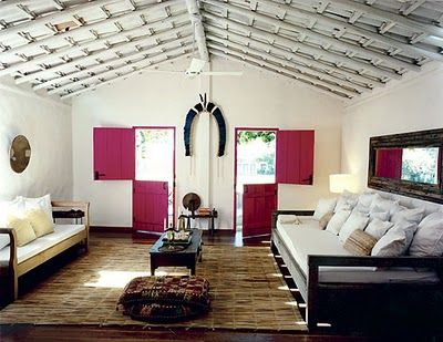 Double Dutch Doors.: Decor, Living Rooms, Dreams, Casa Hotels, Uxua Casa, Pools Houses, Barns Doors, Hotels Spa, Pink Doors