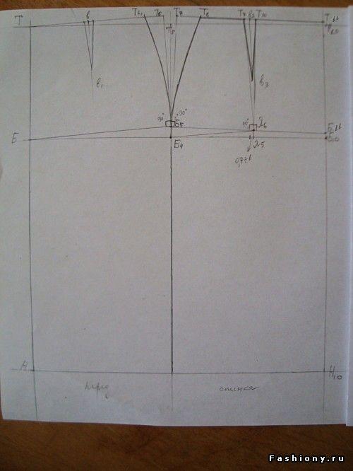 МК юбки-карандаш от Donna Karan .Построение базовой основы юбки / выкройки…