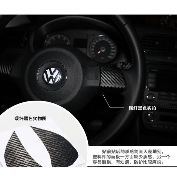 Untuk volkswagen vw golf 6 mk6 jetta mk5 mk6 polo bora Kemudi Stiker Mobil 3D Stiker Serat Karbon Stiker 2 Pcs Per Set