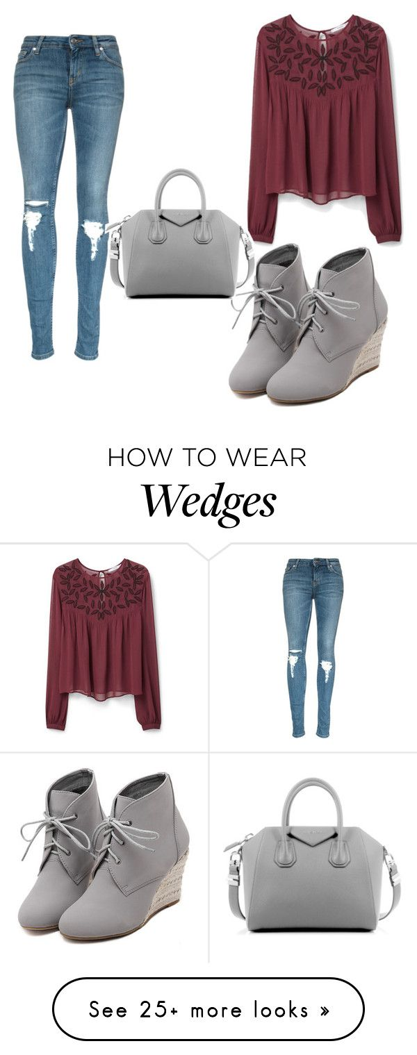 """""""Untitled #1481"""" by marta-moreno-1 on Polyvore featuring WithChic, MANGO, Givenchy, women's clothing, women, female, woman, misses and juniors"""