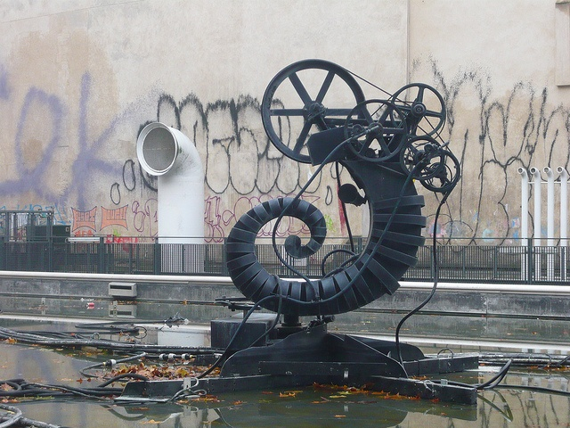 Jean Tinguely sculpture in the Igor Stravinsky fountain. by crystalseas, via Flickr