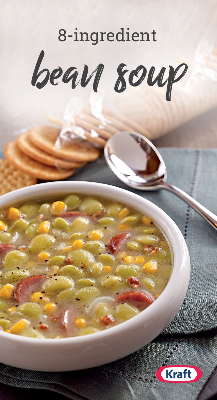 Bean Soup – Wow folks who say they don't like lima beans with this tasty Bean Soup recipe. Enhanced with bacon and smoked turkey sausage, this dish is sure to be a favorite on your dinner table.