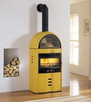 Wood Burning Stoves from Palazzetti - the Camilla wood stove. Not a fan of the color but its awesome!