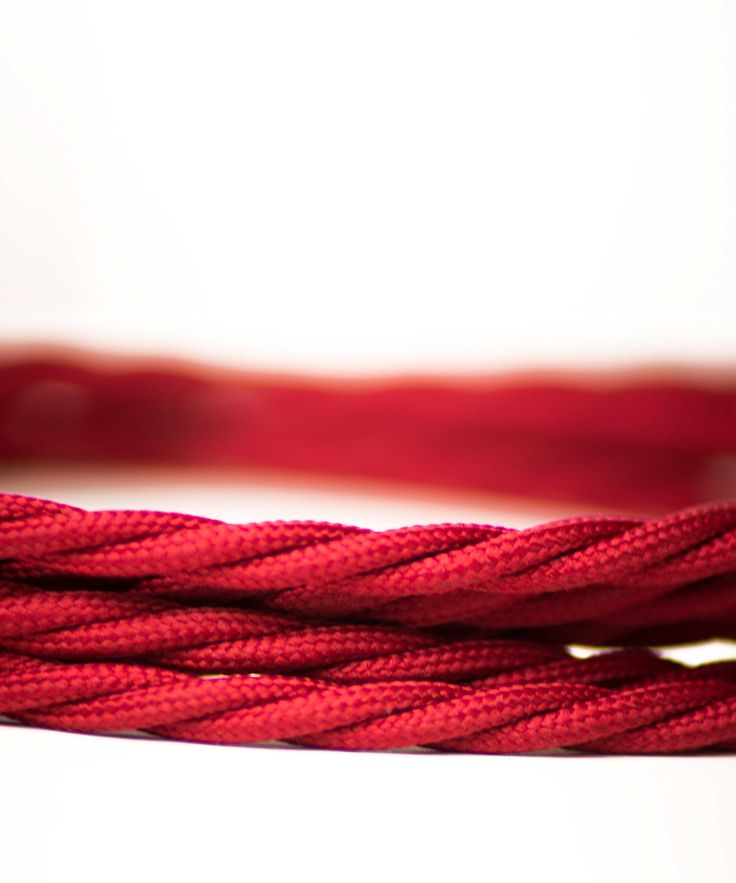 Vintage Fabric Electric Cable - Red Burgundy Twisted - William&Watson